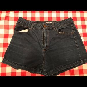High waisted refuge jean shorts size 10
